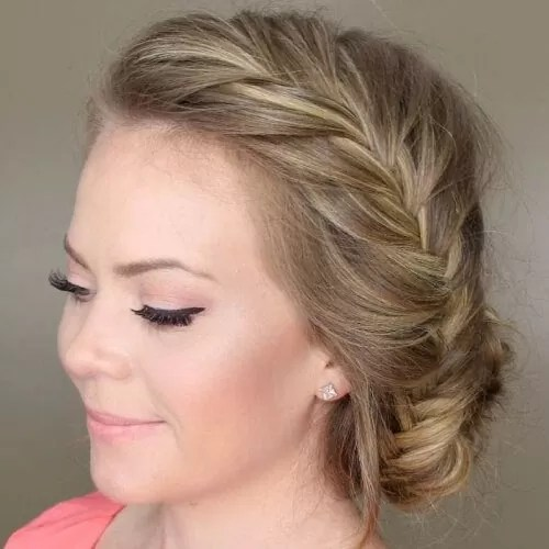 Loose Updo French Braid Hairstyles