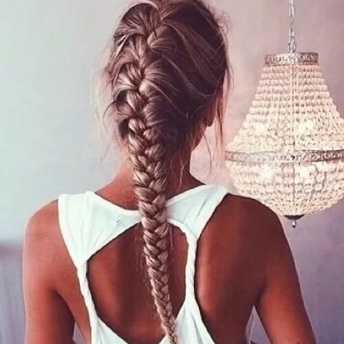 Tight but Messy French Braids