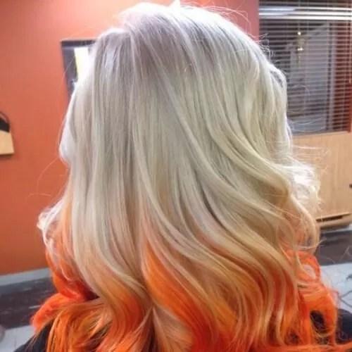 orange reverse ombre hair