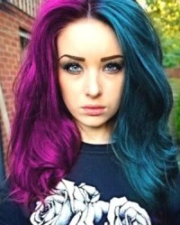 coloured hair type