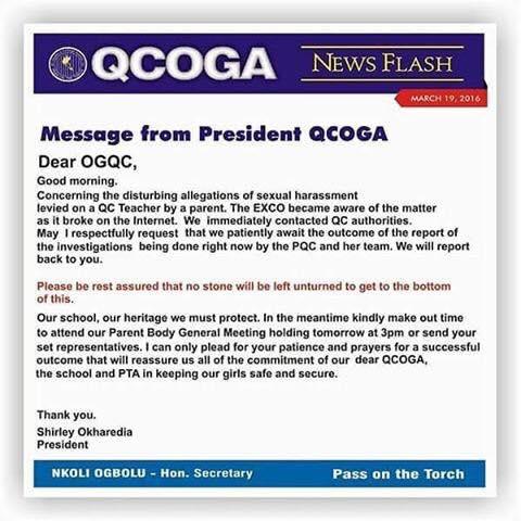 Queens College Letter