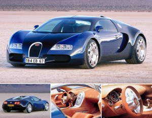 1999 Bugatti EB 18-4 Veyron Concept; top car design rating and specifications
