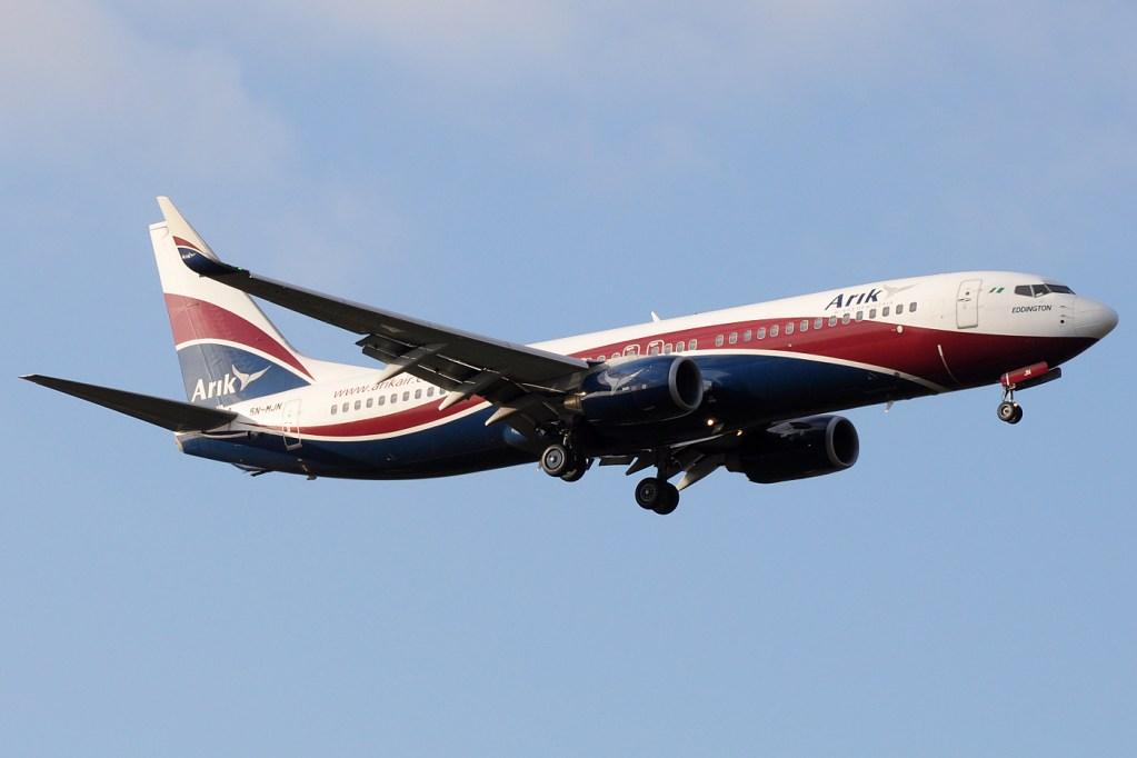 Arik_Air_Boeing_737-800_5N-MJN_in_LHR