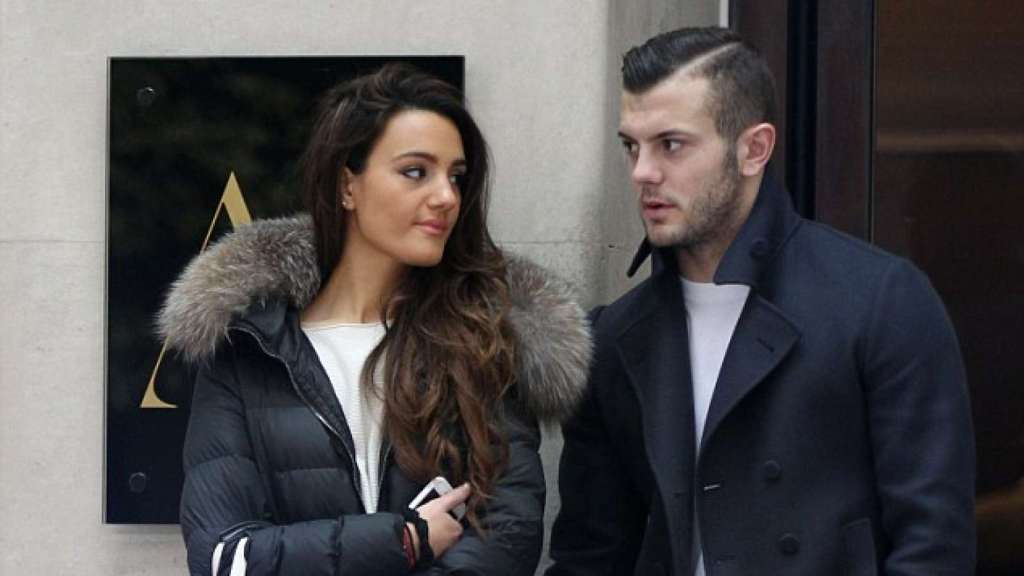 Jack-Wilshere-and-his-girlfriend-Adriana-Michael