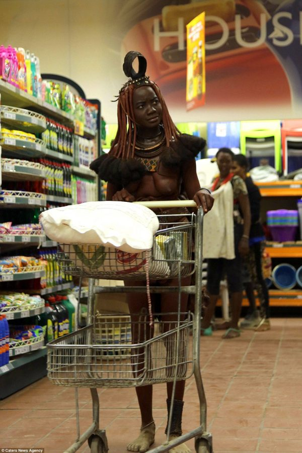 in store grocery woman Naked