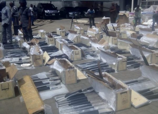 Image result for nigerian customs intercepts riffles