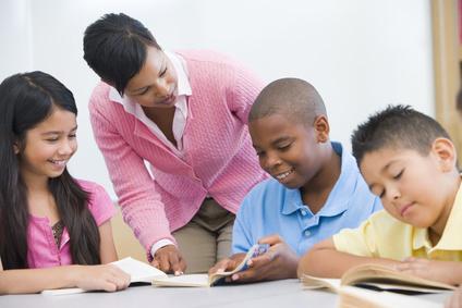 Tutor Helping Math Students