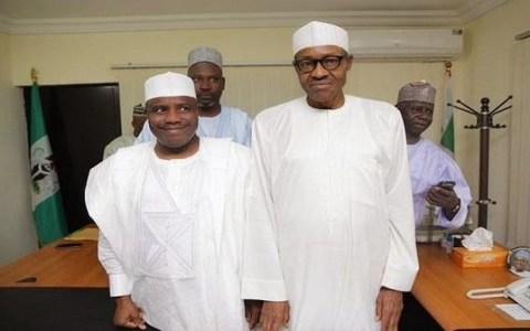 Aminu Tambuwal and Muhammadu Buhari
