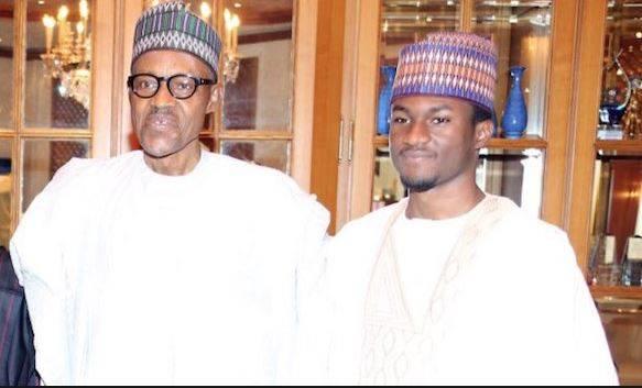 muhammadu buhari the president of nigeria and his son yusuf buhari