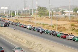 fuel scarcity lines in abuja