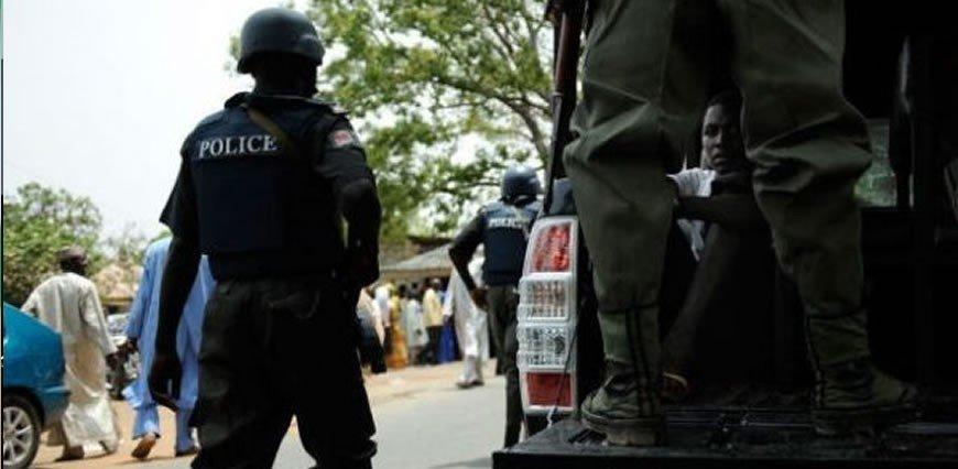 police in uniform, church