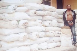Iredia Austine With 82 Bags of marijuana