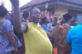 pregnant women protest in akure