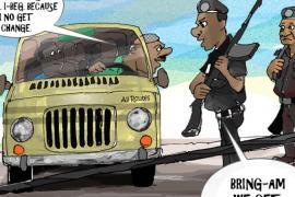 police bribe cartoon