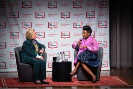 Chimamanda Adichie and Hillary Clinton