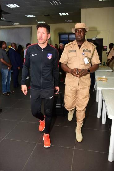 Diego Simeone arriving Nigeria