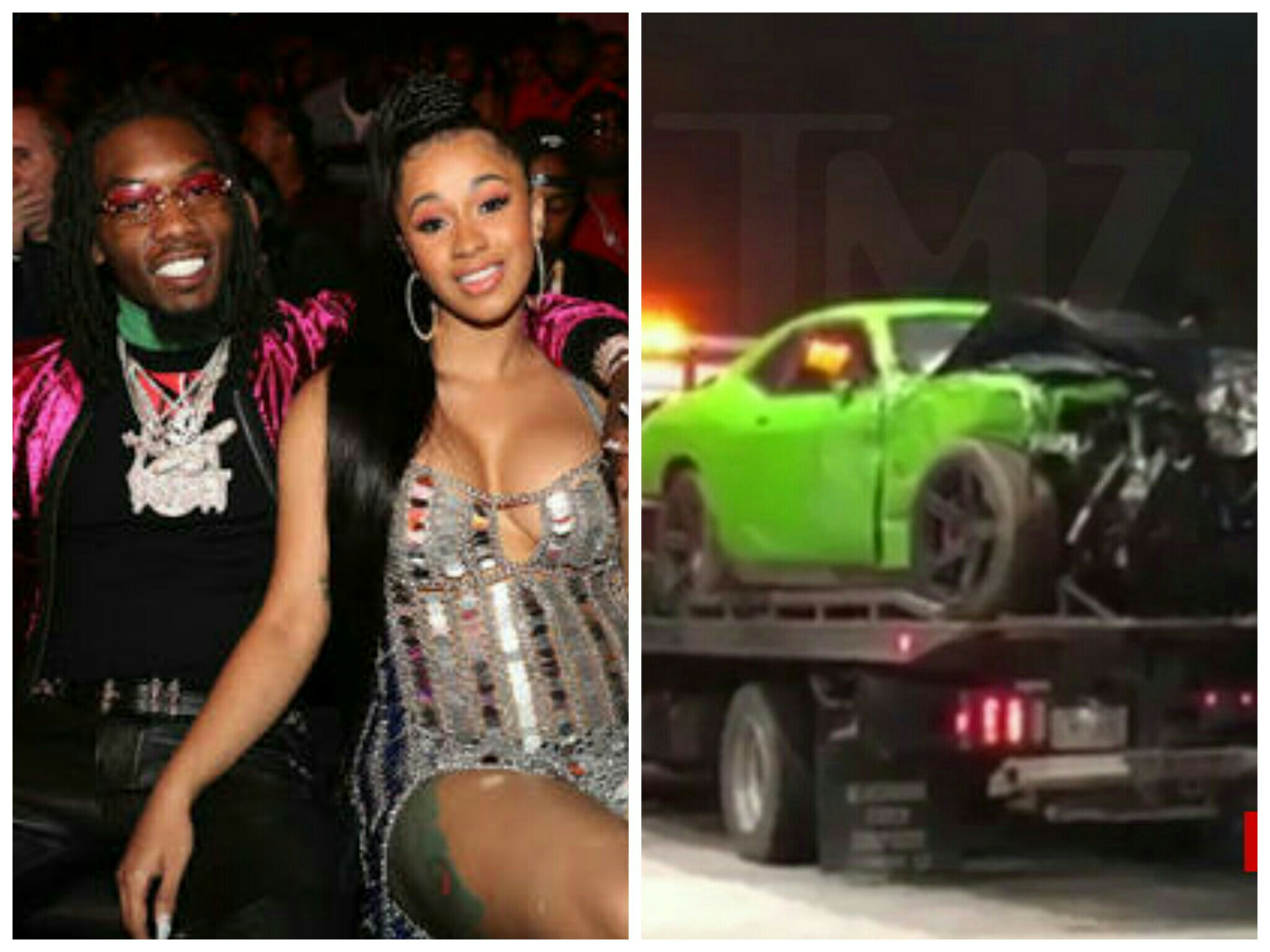 Cardi B 'so grateful' after fiance survives auto crash