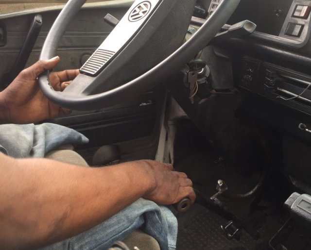 bus driver drives danfo with no legs