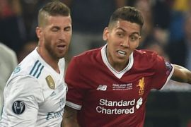 Firmino and Sergio Ramos