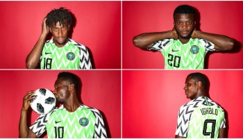 0b6250893af PHOTOS  Super Eagles Look Awesome In New World Cup Photoshoot