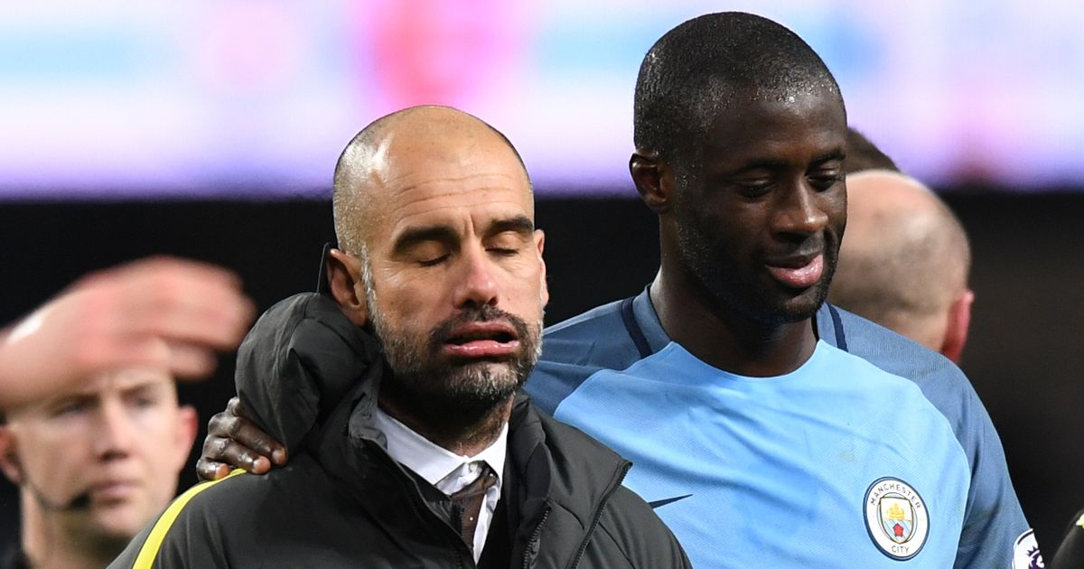 Image result for yaya toure guardiola