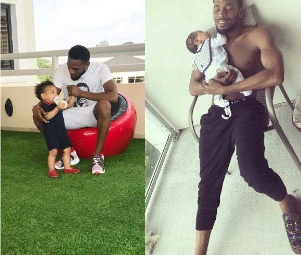 D'banj and his son