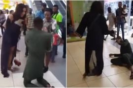 Woman slaps man who proposed to her in the mall