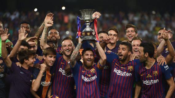 Lionel Messi Super Copa Win