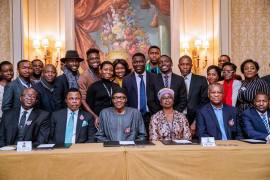 Buhari and Nigerians in France