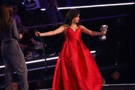 Camila Cabella at MTV EMA