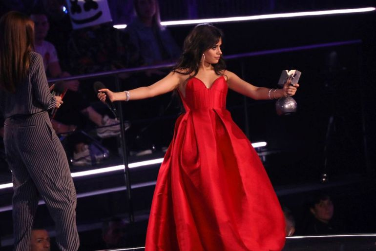 Camila Cabella at MTV EMA