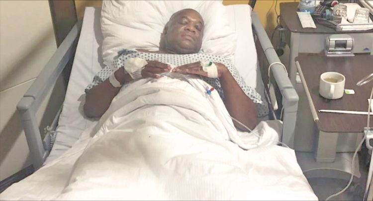 Orji Kalu in German hospital