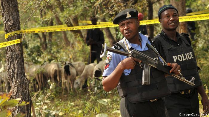 police on crime scene
