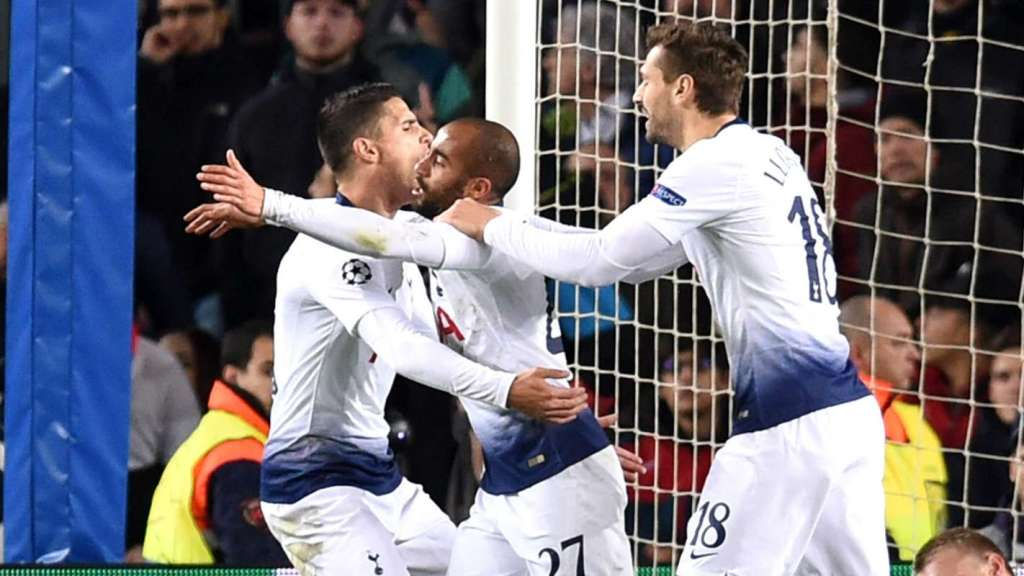 tottenham sceure a place in the knockout stages if the UCL