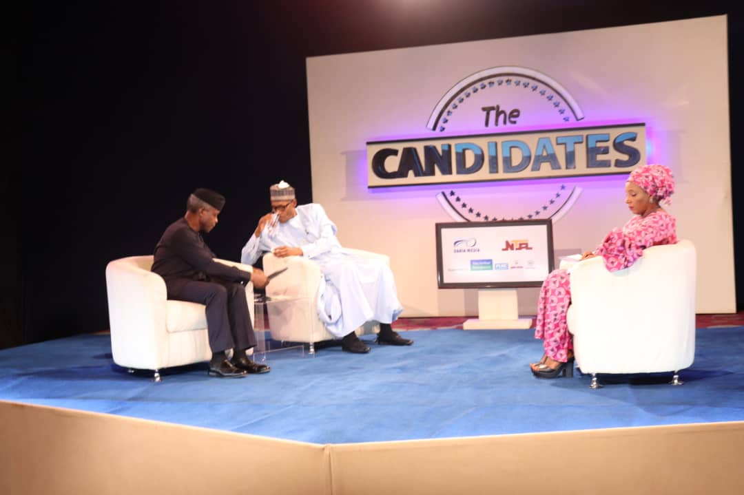 Kadaria Ahmed is one of Nigeria's respected journalists who had worked with the British Broadcasting Corporation. She interviewed the Presidential and Vice Presidential candidate on NTA's The Candidate in the build up to 2019 Presidential Election. (Image Source: Concise News)