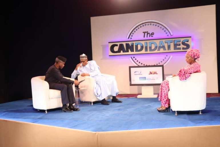 Buhari and Osinbajo at The Candidates