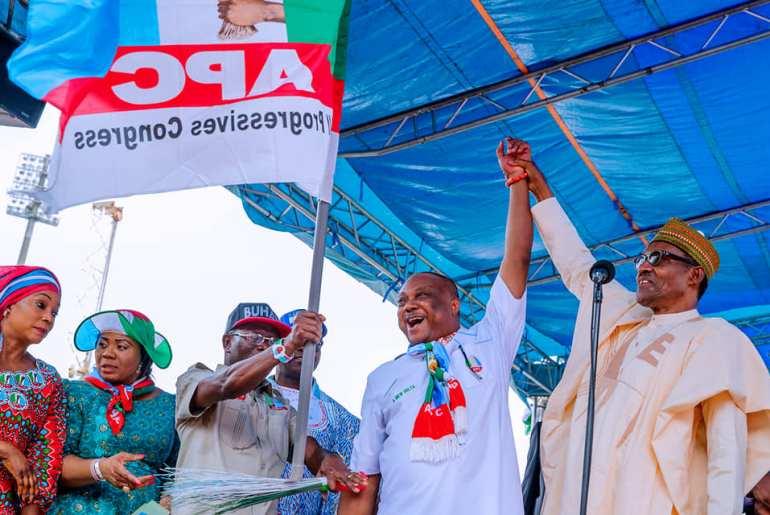 Buhari in Warri, Delta State at APC Campaign