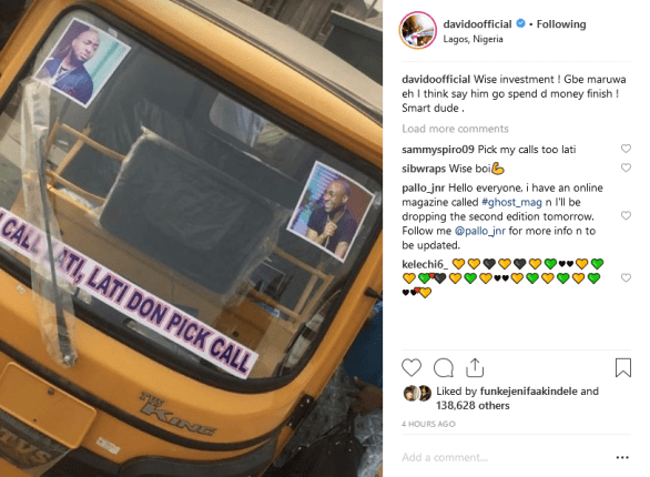 Boy Buys Keke Napep with Cash Received From Davido