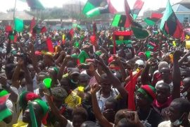 biafrans IPOB with flags