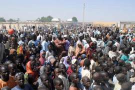 IDPs protest