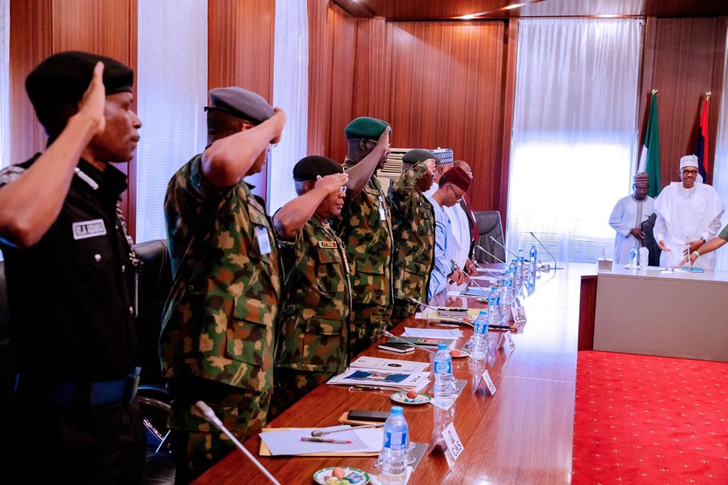 Buhari and security chiefs