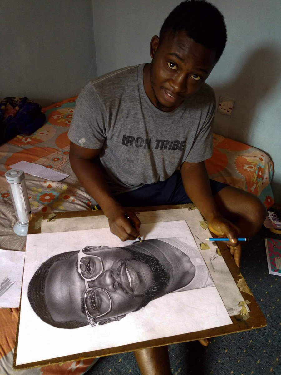 Nigerians react as nigerian boy catches kevin harts attention with pencil sketch