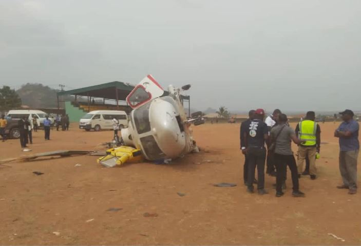 Osinbajo's crashed chopper