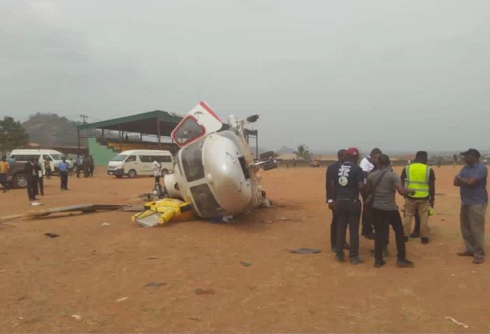 Osinbajo's crashed chopper