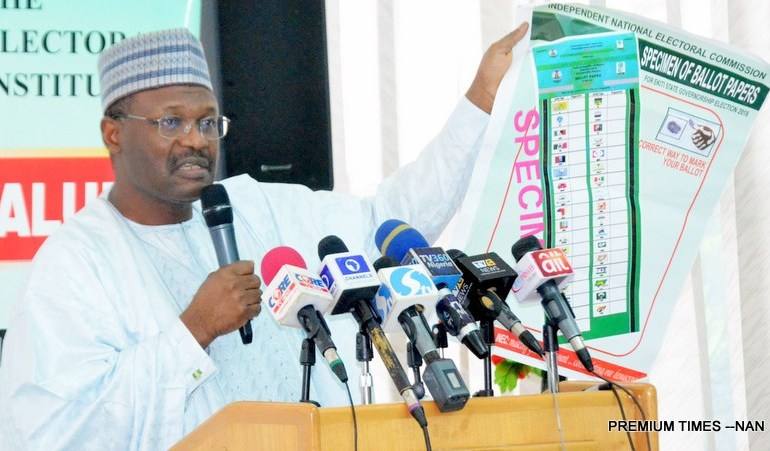 inec chairman with voting sheet