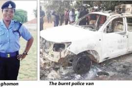 Aghomon-and-The-burnt-police-van