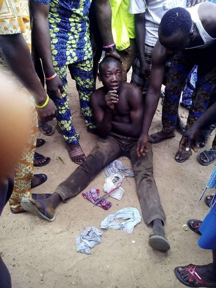 Yekini with stolen pants
