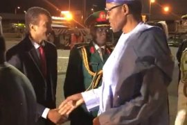 Buhari on UK trip