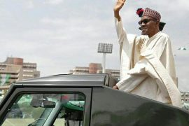 Buhari at Democracy Day parade