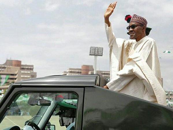 Buhari at Democracy Day parade